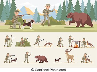 concept, coloré, chasse