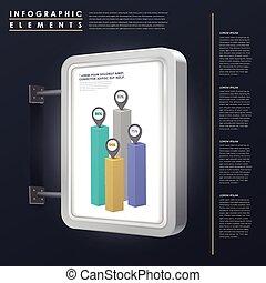 concept, commercialisation, infographic, conception, gabarit
