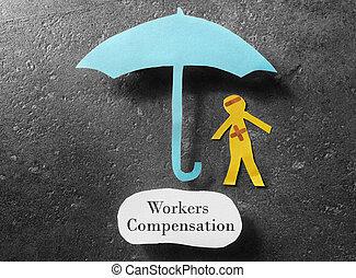 concept, compensation, ouvriers