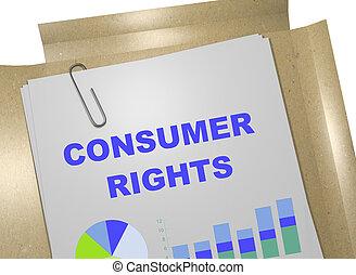 concept, consommateur, droits