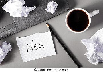 concept, créativité, business