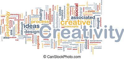 concept, créativité, fond, créatif