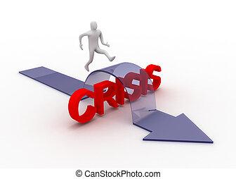 concept, crise