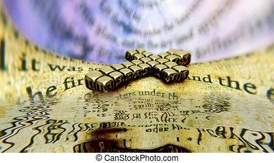 concept, croix, bible
