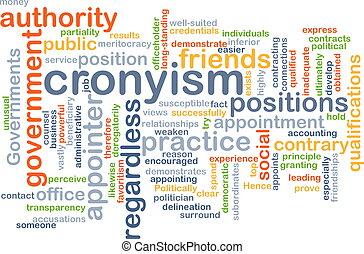 concept, cronyism, fond