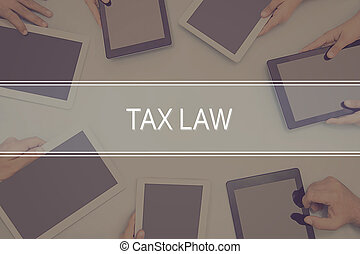 concept., droit & loi, impôt, concept affaires