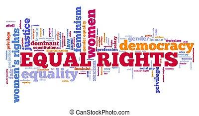 concept, droits, égal