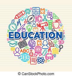 concept, education, illustration