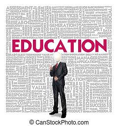 concept, education, mot, nuage, business