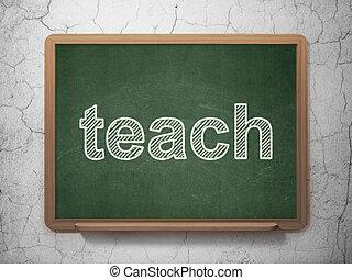 concept:, enseigner, education, tableau, fond