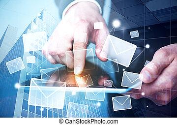 concept, envoie e-mail commercialisation