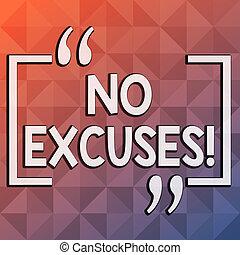 concept, excuses., couleur, texte, il, pas, forme, pyramide, tonalité, happen, écriture, non, modèle, désapprobation, devez, exprimer, a, arrivé, triangle, business, infini, multi, mot, dimension., ou
