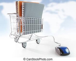 concept, faire courses ligne