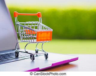 concept, :, faire courses ligne