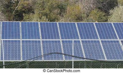 concept, ferme, énergie, vert, panneaux solaires