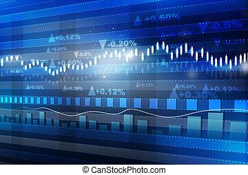 concept, finance, économie, graph., diagramme, marché mondial, stockage