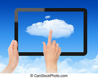 concept, fonctionnement, nuage, calculer