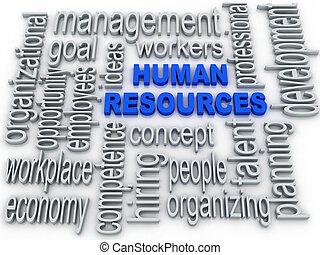 concept, fond, étiquette, nuage, humain, blanc, ressources
