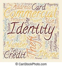 concept, fond, texte, commercial, wordcloud, vol, identité