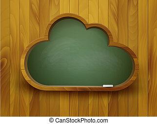 concept., forme, tableau, vector., cloud., e-apprendre
