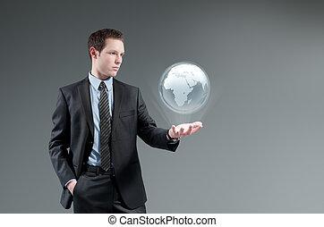 concept., futuriste, technologie