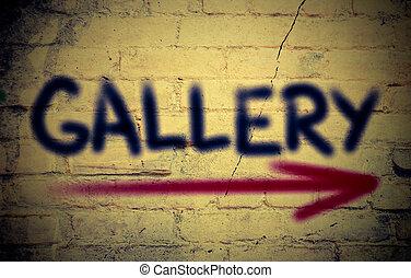 concept, galerie