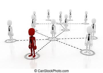 concept, global, 3d, homme affaires
