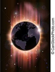 concept, globe, illustrati, futuriste