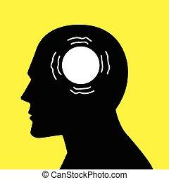 concept, graphique, esprit, maladie, parkinson's