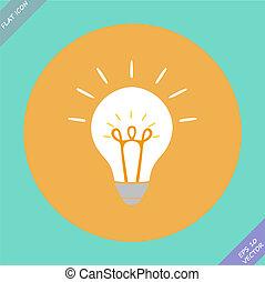 concept, idée, créatif, forme, ampoule, inspiration
