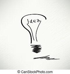 concept., idée, créatif, forme, vecteur, conception, ampoule, élément, inspiration