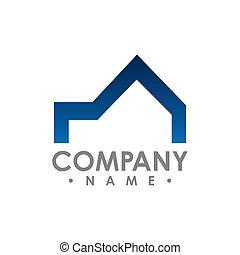 concept, idea., vecteur, conception, realty, logo