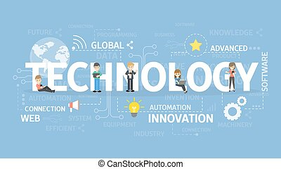 concept., illustration technologie