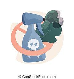 concept, illustration., vecteur, résumé, interdiction, herbicide