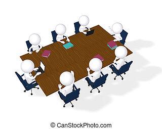 concept, imagen, business, brain-storming, meeting., 3d