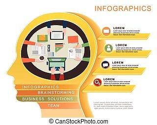 concept, infographic, conception, business, gabarit