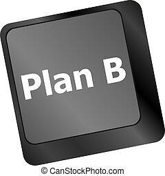 concept, informatique, business, -, b, plan, clã©, clavier
