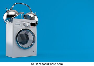 concept, lavage, alerte, machine