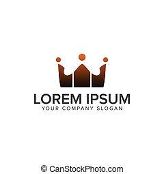 concept, logos., gens, communication, couronne, conception, gabarit, logo, groupe