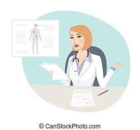 concept médical, -, étrange, diagnostic