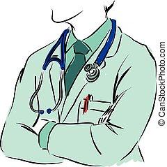 concept médical, illustration, docteur