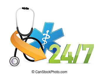 concept médical, soutien