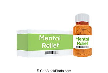concept, médicament, mental, soulagement