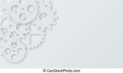 concept, métrage, moderne, mécanisme, arrière-plan., industriel, engrenages, technologie, animation., 4k