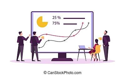 concept., marché, investissement, idée, stockage, finance