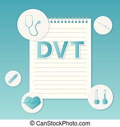 concept, monde médical, thrombosis), (deep, dvt, veine