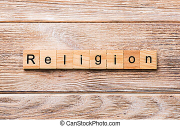 concept, mot, bois, texte, religion, écrit, bois, block., table, desing, ton