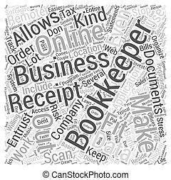 concept, mot, business, crise, ligne, comptabilité, ton, nuage