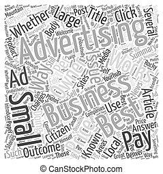 concept, mot, business, mieux, publicité, petit, nuage