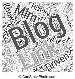 concept, mot, business, mlm, blogging, nuage